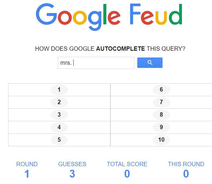 Google Feud Culture Question