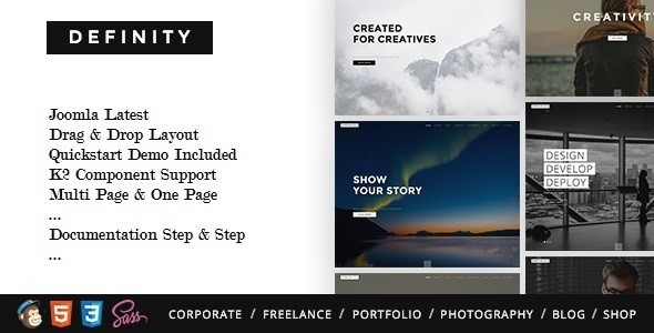 Definity - Multipurpose One/Multi Page Joomla Template