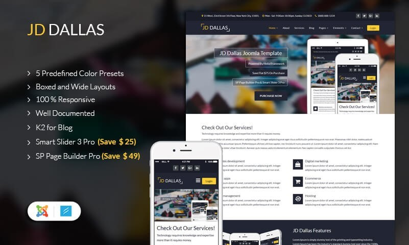 JD Dallas - Ultimate Multipurpose Joomla Template