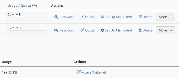 setup mail client