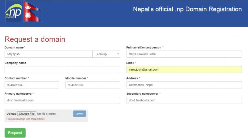 Steps toRegister .com.np Domain