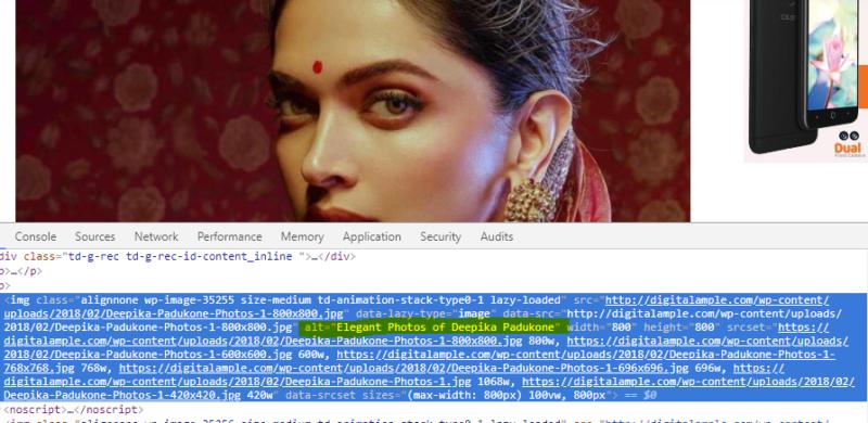 ALT tag optimization Deepika SEO