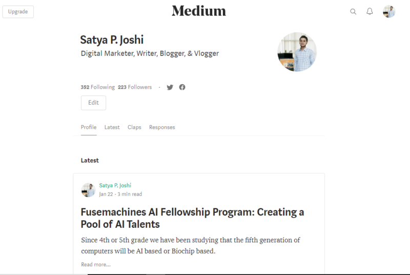 medium free blogging platform 1