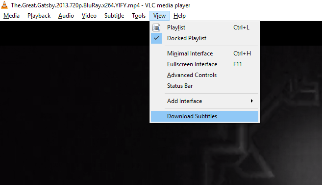 download subtitles on VLC