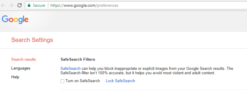safe search filters
