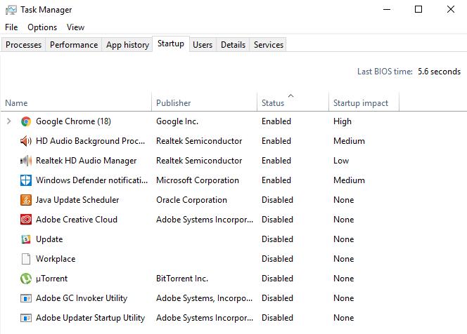 Stop Startup Programs on Windows 10