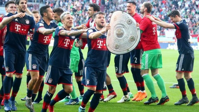 Bayern Wins Record 6th straight Bundesliga Title