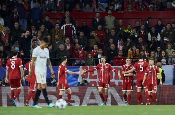 Bayern through to the semifinals of Champions League