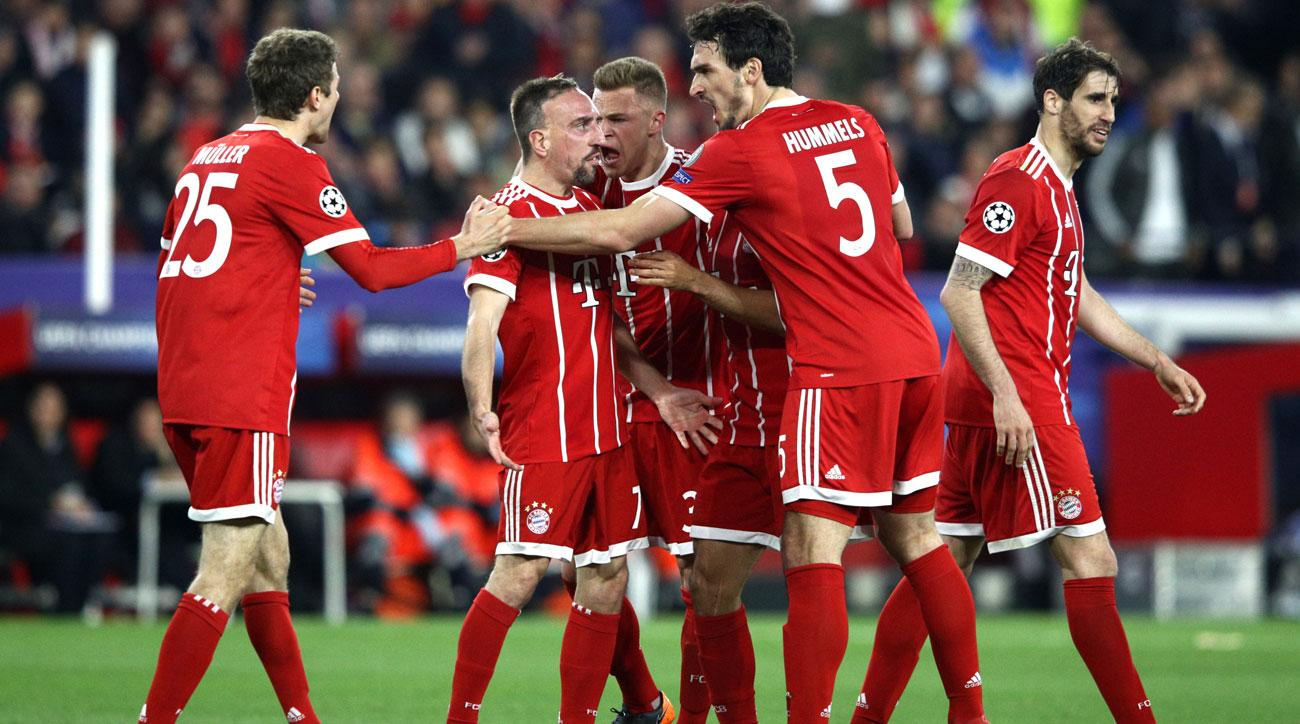 Photo of Bayern Munich with two away goals at Sevilla