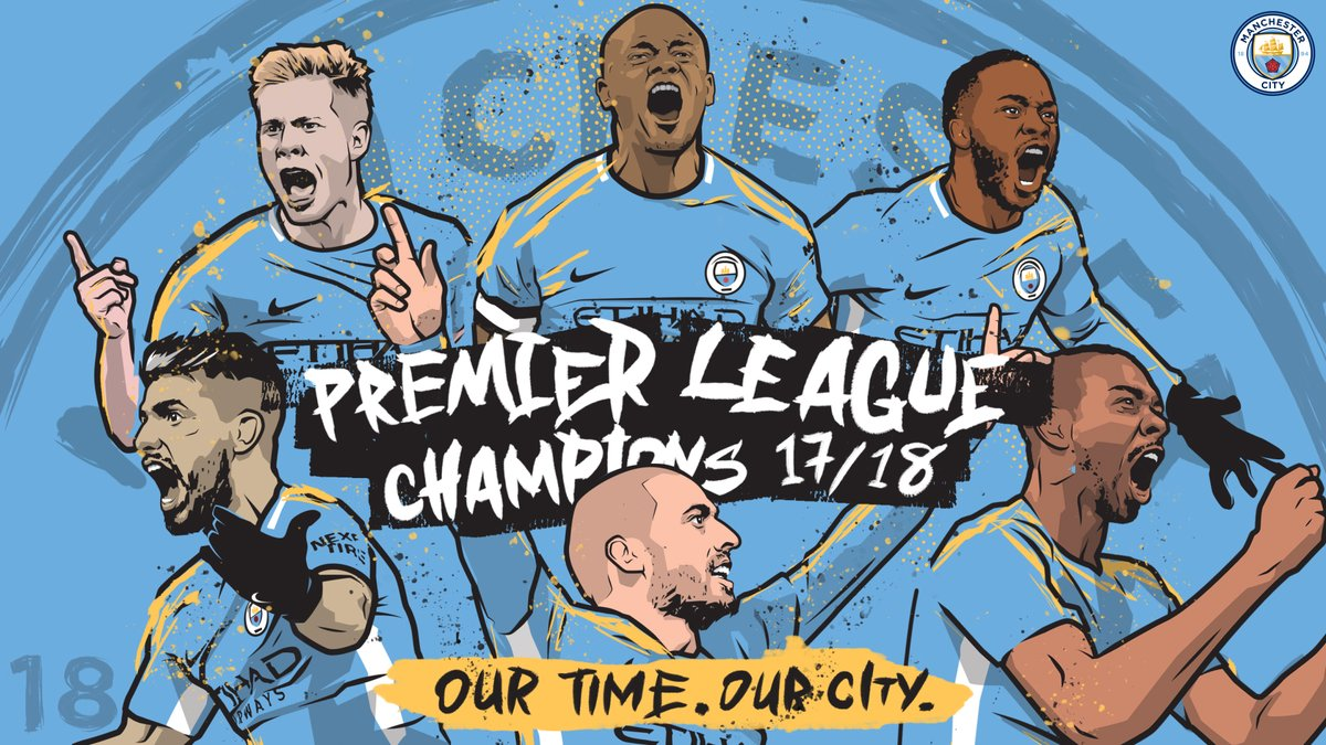 Manchester City win the Premier League title as Man Utd lose
