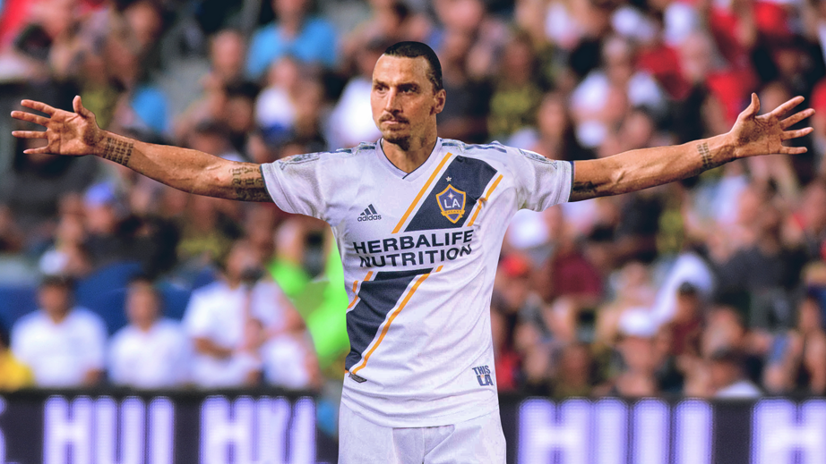 Photo of Zlatan doing Zlatan in Major League Soccer