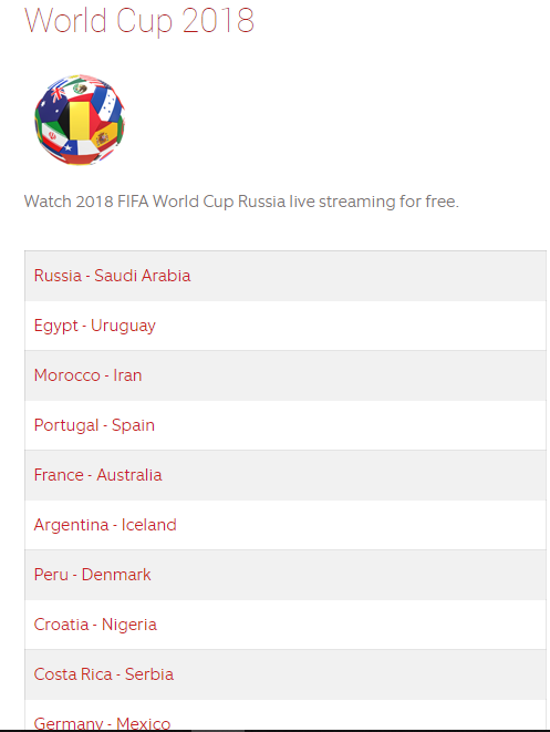 football live streaming for free