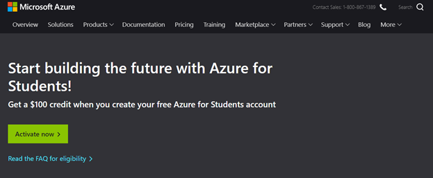 Azure for Students
